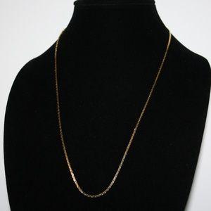 "Simple vintage gold chain necklace 24"""